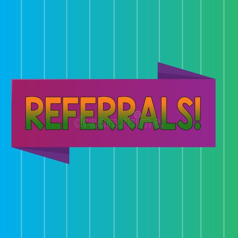 Rinvii del testo di scrittura di parola Concetto di affari per la Legge di rinvio qualcuno o del qualcosa per lo spazio in bianco royalty illustrazione gratis