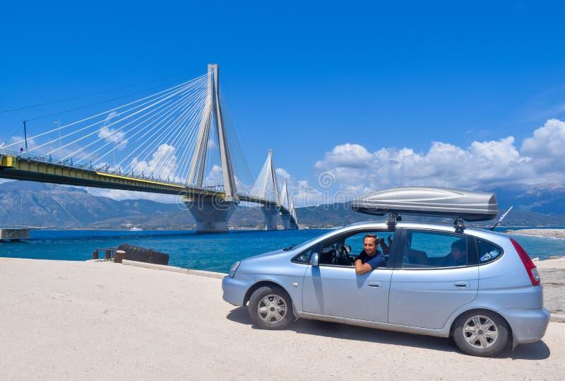 """Rio†""""Antirrio bro, Grekland royaltyfria bilder"""
