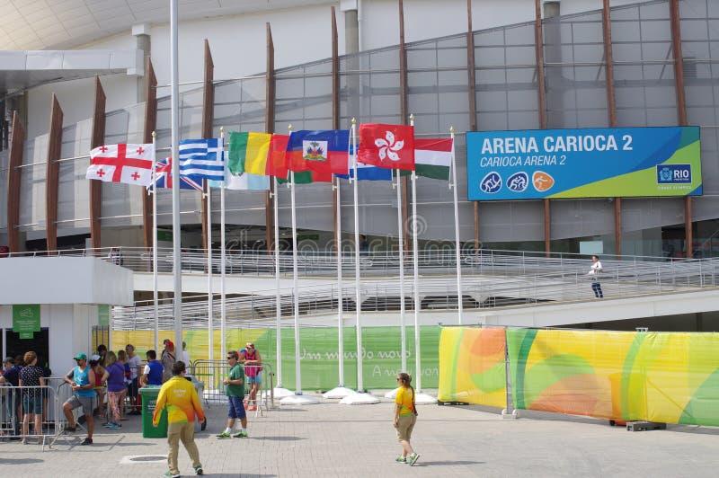 Rio2016 χώρος 2 Carioca Ολυμπιακών Αγώνων στοκ εικόνες
