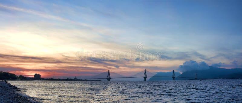 Rio - Antirrio Bridge royalty free stock photos