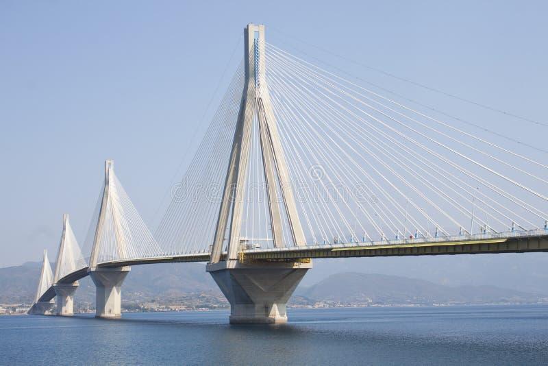 Rio-Antirrio bridge. General view of the Rio-Antirrio bridge royalty free stock photography