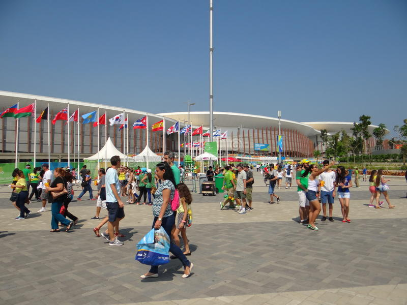 Rio 2016 - arena Carioca imagem de stock