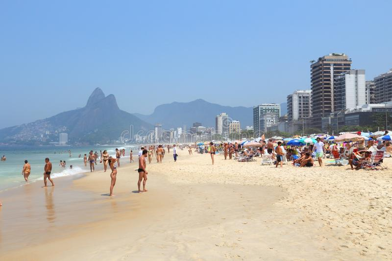 Rio beach stock photo