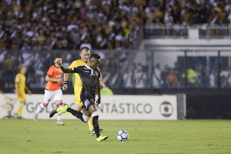 Rio, Brasilien - 14. November 2018: Kelvin-Spieler im Match zwischen Vasco und Atletico-PR durch die brasilianische Meisterschaft lizenzfreie stockfotografie