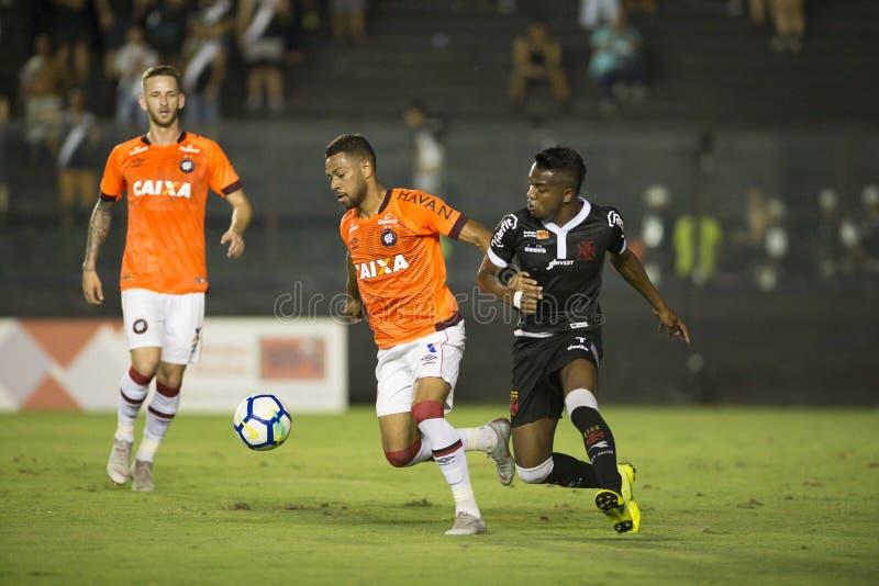 Rio, Brasilien - 14. November 2018: Kelvin-Spieler im Match zwischen Vasco und Atletico-PR durch die brasilianische Meisterschaft stockfotos