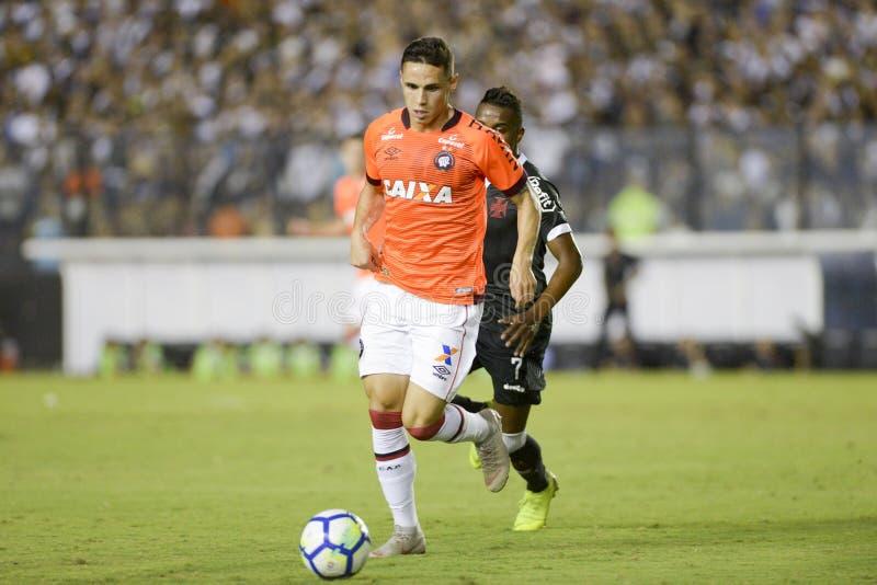 Rio Brazylia, Listopad, - 14, 2018: Pablo gracz w dopasowaniu między Vasco i CC$PR Brazylijskim mistrzostwem w Sao Januario obraz royalty free