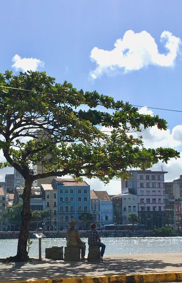 Rio Capeberibe w Recife fotografia royalty free