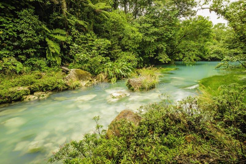 Rio Celeste Costa Rica stock foto