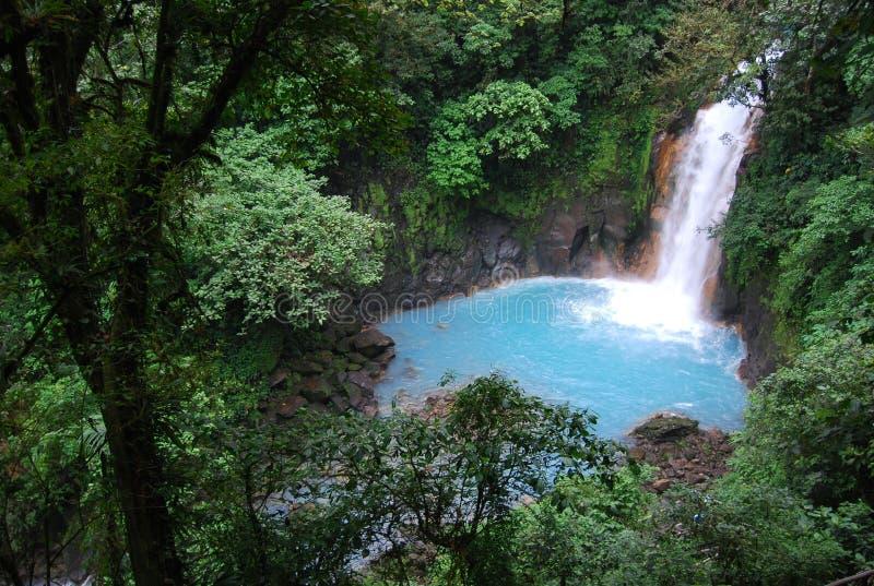 Rio Celeste in Costa Rica royalty-vrije stock foto