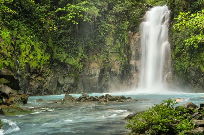 Rio Celeste Falls stock afbeelding