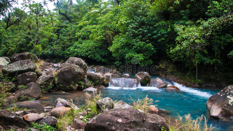 Rio Celeste River fotografía de archivo libre de regalías