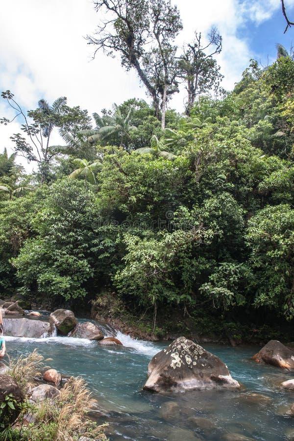 Rio Celeste River fotografia stock