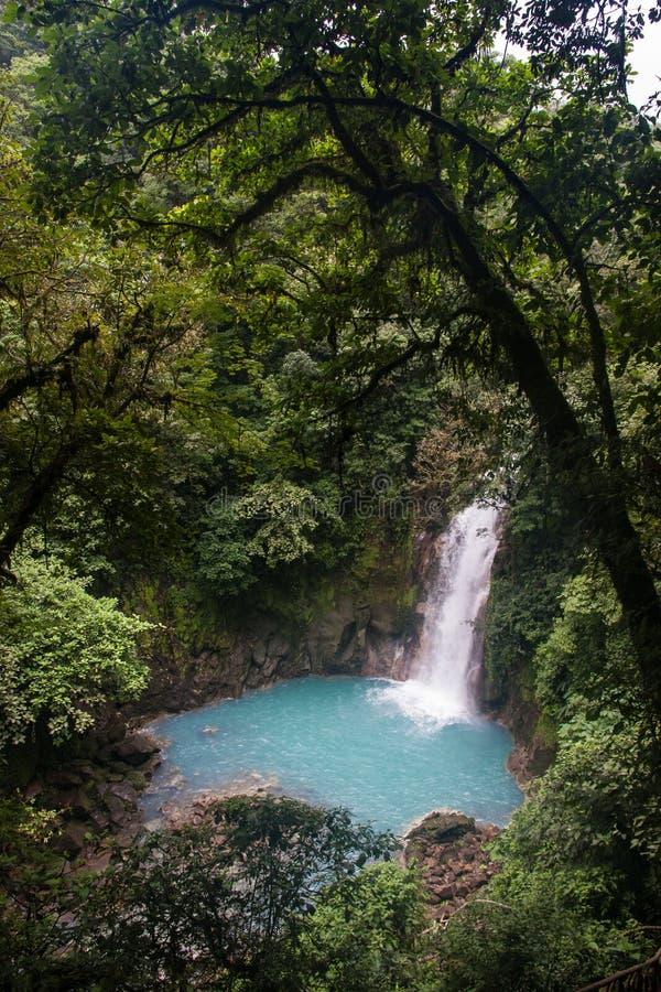 Rio Celeste River Waterfall fotografia stock libera da diritti