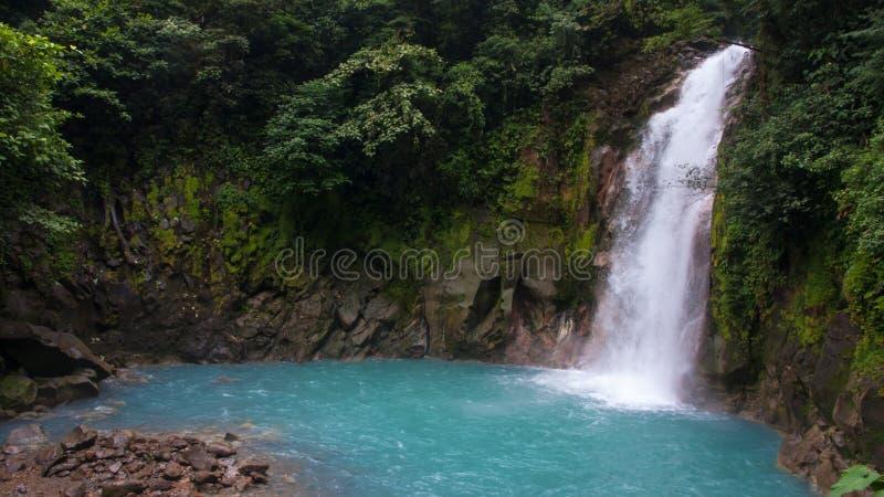 Rio Celeste River Waterfall immagine stock