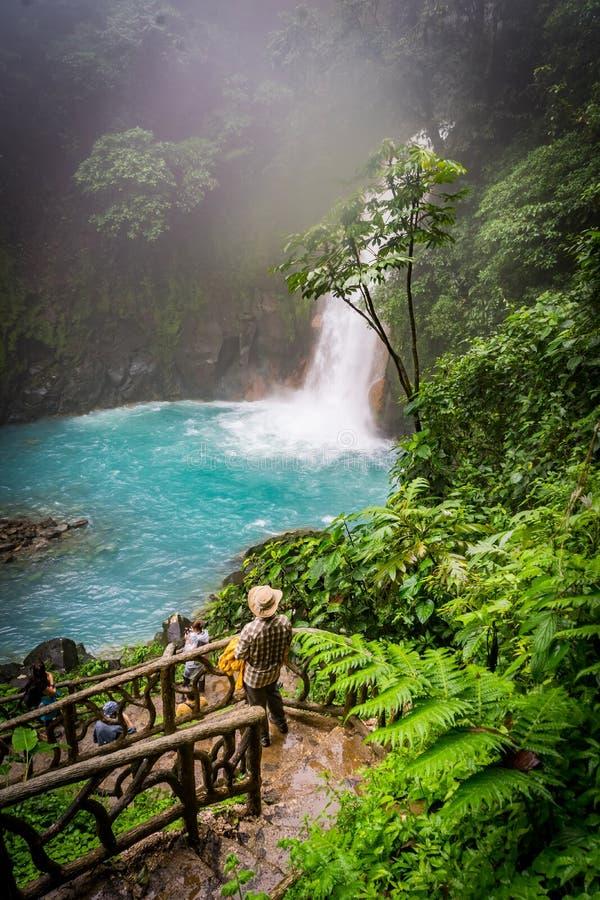Rio Celeste Views intorno a Costa Rica immagine stock libera da diritti