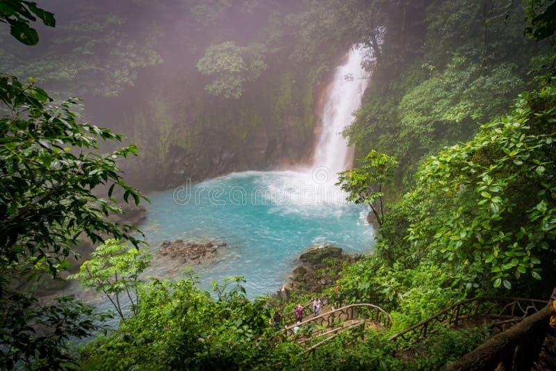 Rio Celeste Views intorno a Costa Rica fotografie stock