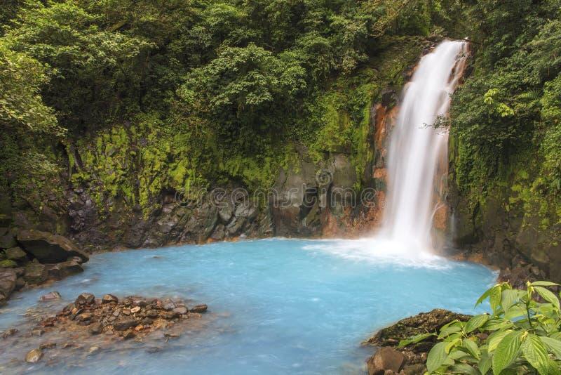 Rio Celeste Waterfall, Costa Rica fotografie stock