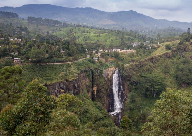 Rio Celeste Waterfall ha fotografato immagine stock