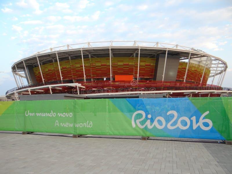 Rio 2016 - centro olimpico di tennis fotografia stock libera da diritti