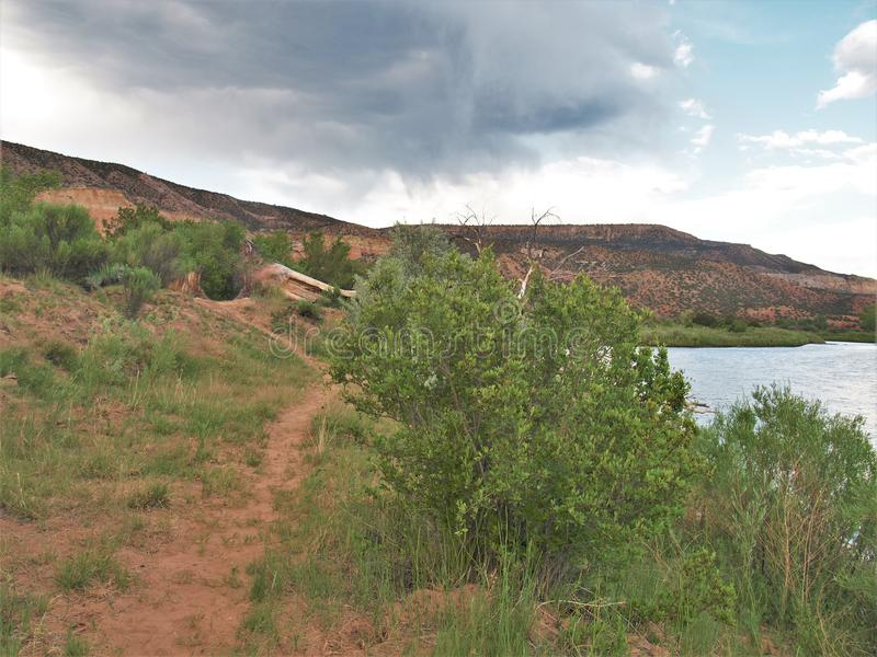Rio Chama near Abiquiu, New Mexico royalty free stock images