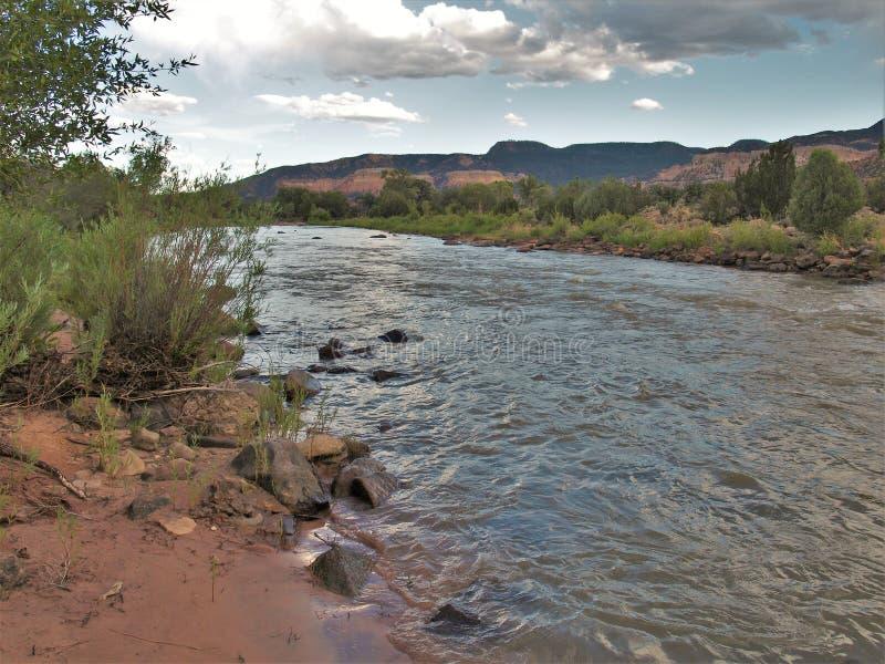 Rio Chama near Abiquiu, New Mexico royalty free stock photography