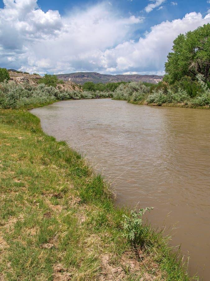 Rio Chama near Abiquiu, New Mexico royalty free stock photo