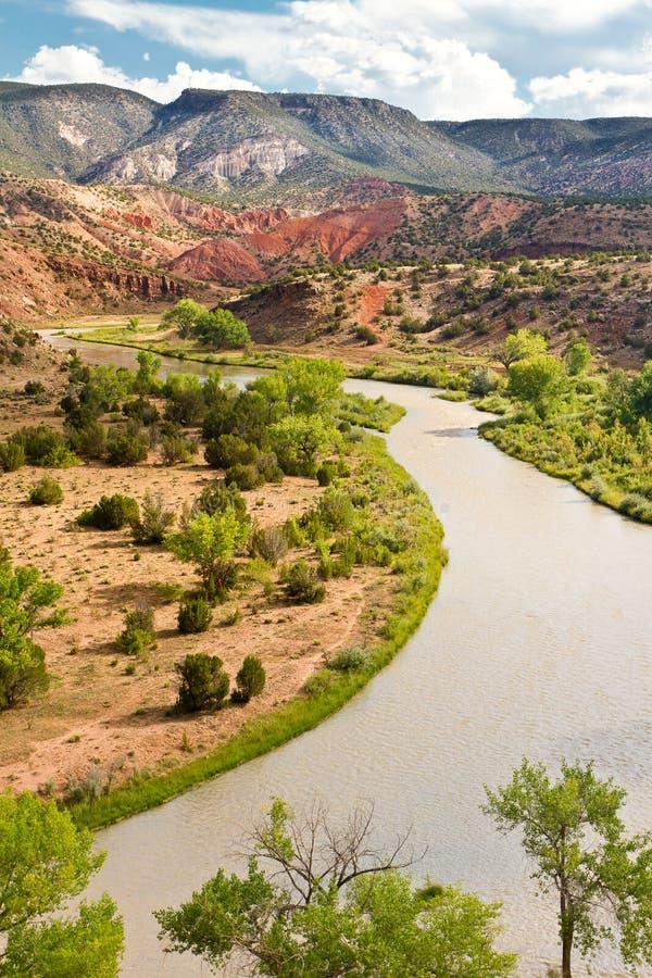 Rio Chama, New Mexico fotografering för bildbyråer