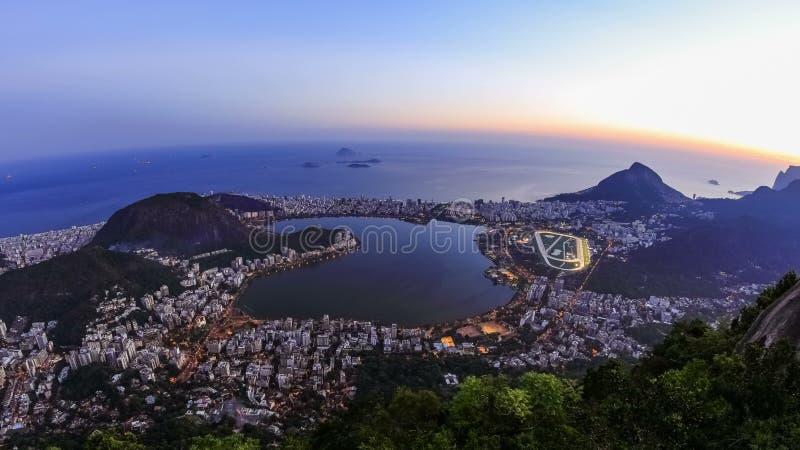 Rio Cityscape Time Lapse Dusk zoom lager videofilmer