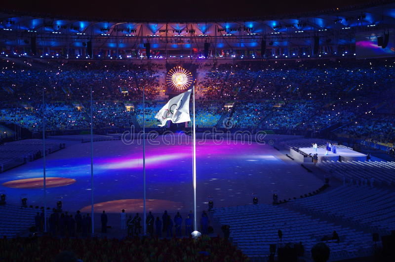 Rio2016 closing ceremonies at Maracana Stadium. Maracana Stadium in Rio de Janeiro during closing ceremonies of Rio2016 Summer Olympic Games in Brazil. Photo royalty free stock photography