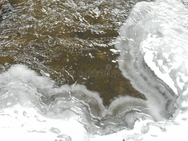 Rio congelado foto de stock