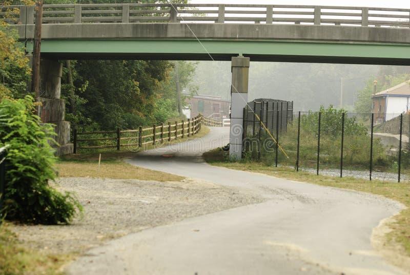 Rio Curvy Bikeway de Blackstone da seção imagem de stock royalty free