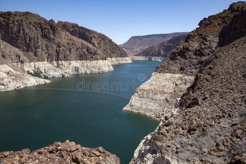 Rio da barragem Hoover foto de stock