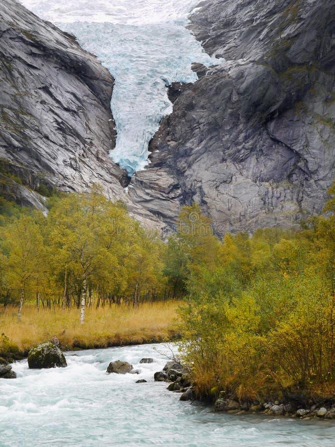 Rio da geleira fotografia de stock