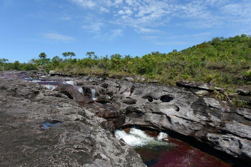 Rio da montanha de Canio Cristales colômbia imagens de stock