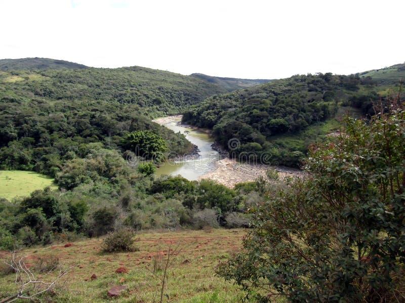 Rio das Mortes & x28; Minas Gerais& x29; obraz stock