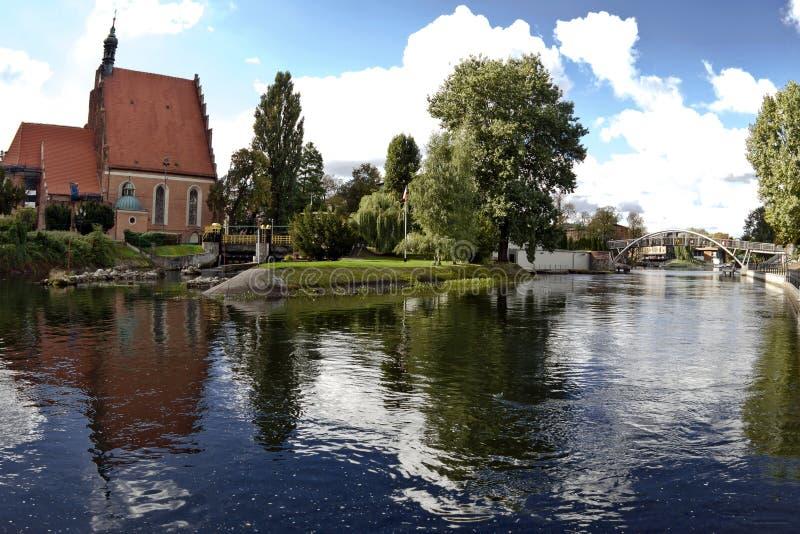 Rio de Brda em Bydgoszcz imagem de stock royalty free