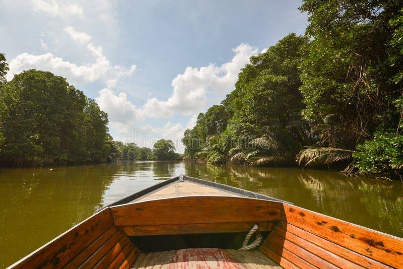 Rio de Brunei Darussalam - viagem do barco foto de stock