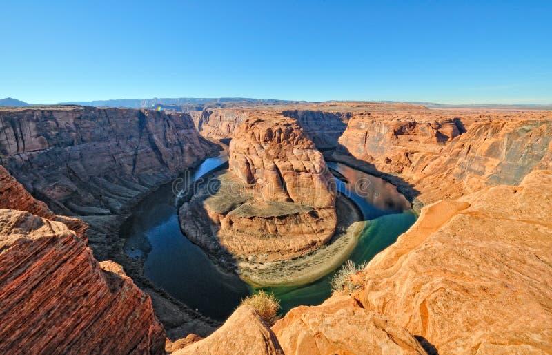 Rio de Colorado em ferradura da curvatura fotos de stock