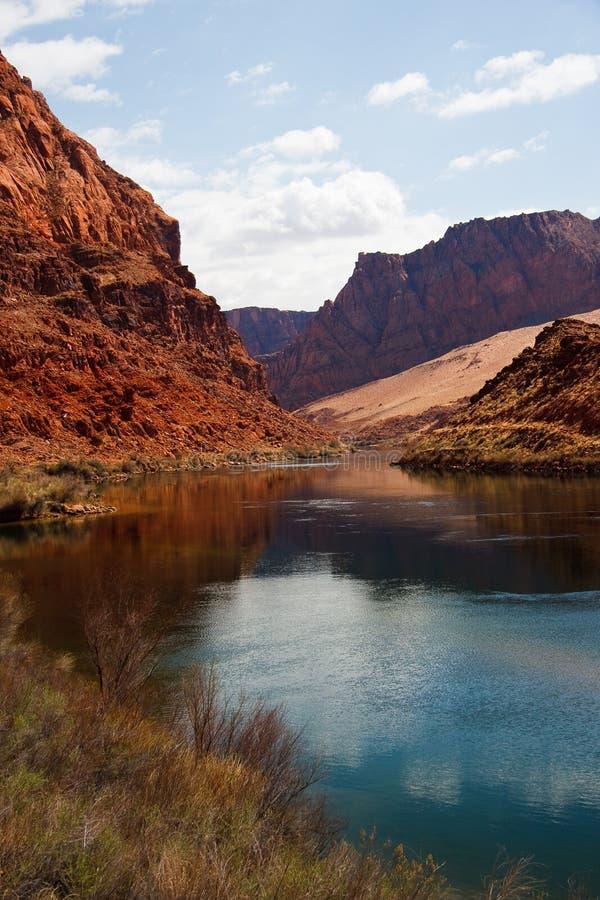 Rio de Colorado no cruzamento de balsa de Lees foto de stock royalty free