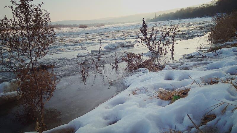 Rio de Dniester imagem de stock