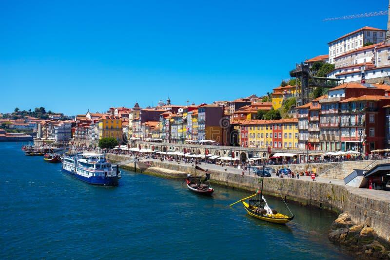 Rio de Duoro em Porto portugal imagem de stock royalty free
