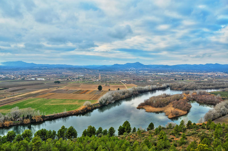 Rio de Ebro, Spain imagens de stock