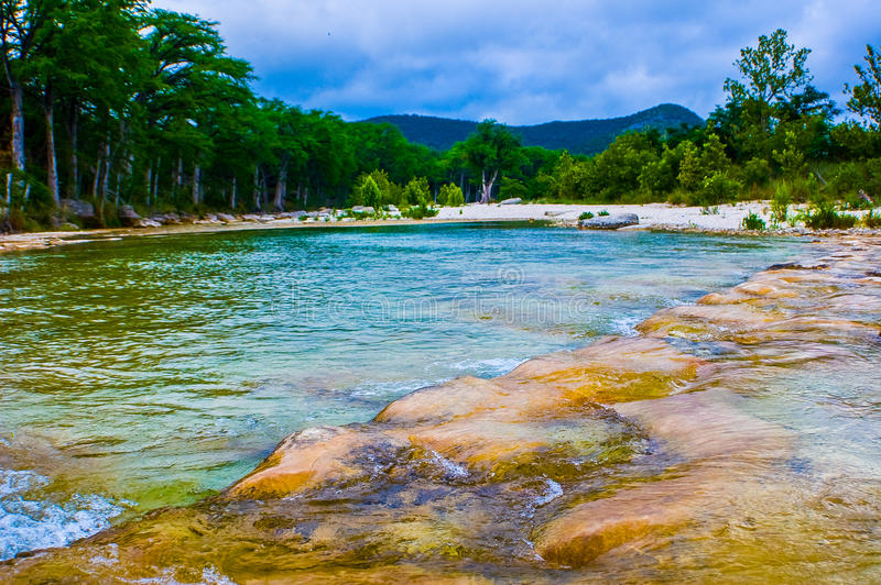 Rio de Frio perto do rio ocidental de Concan Texas Cold Springs fotografia de stock royalty free