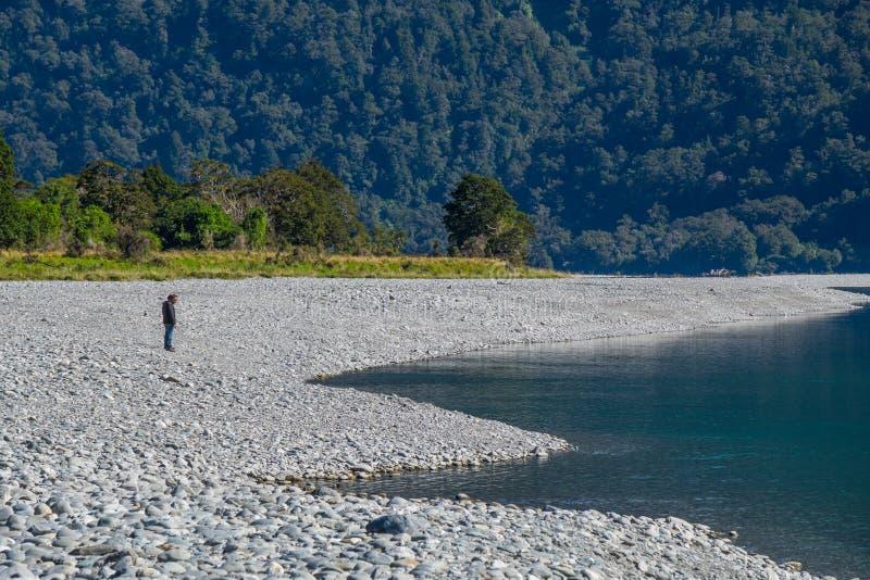 Rio de Hasst em rujir Billy Falls Track, situado no parque nacional de aspiração do Mt, Nova Zelândia foto de stock