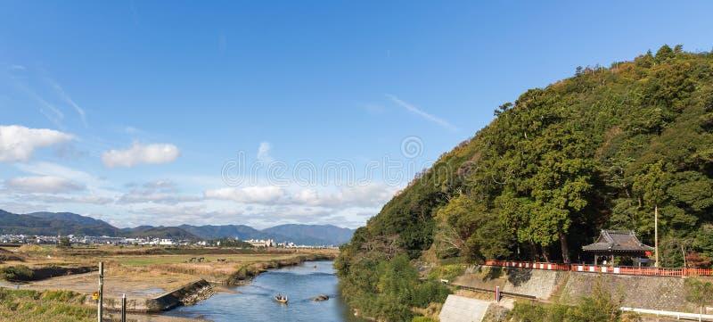 Rio de Hozugawa em Arashiyama foto de stock