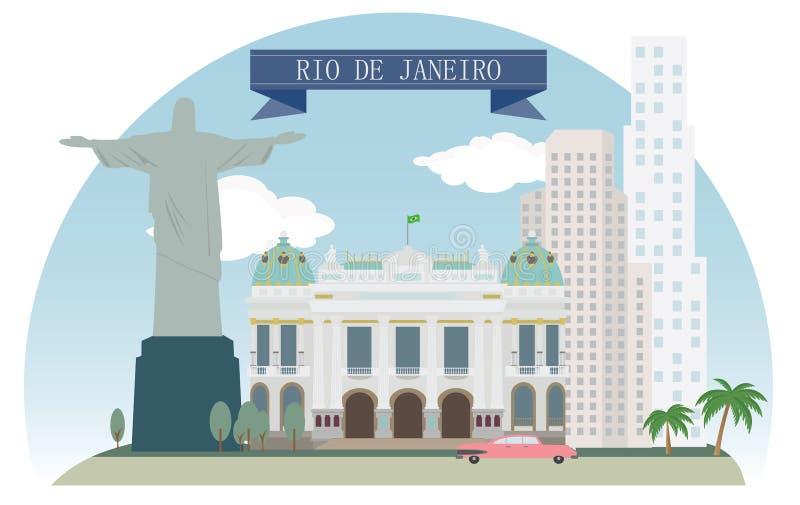 Rio de janeiro ilustração royalty free