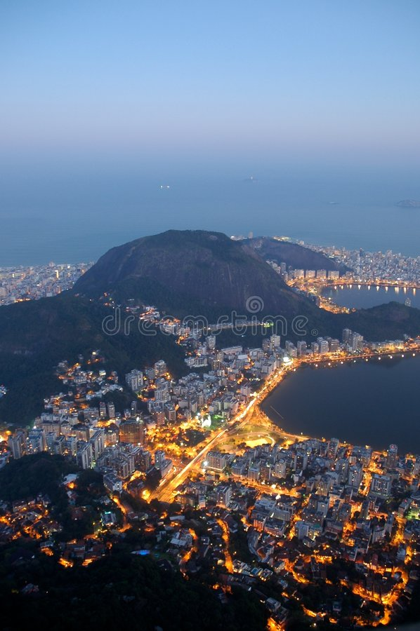 Rio de Janeiro from above stock images