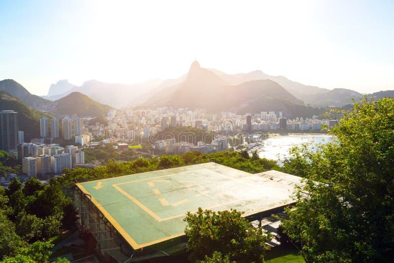 Rio de Janeiro aerial view stock image
