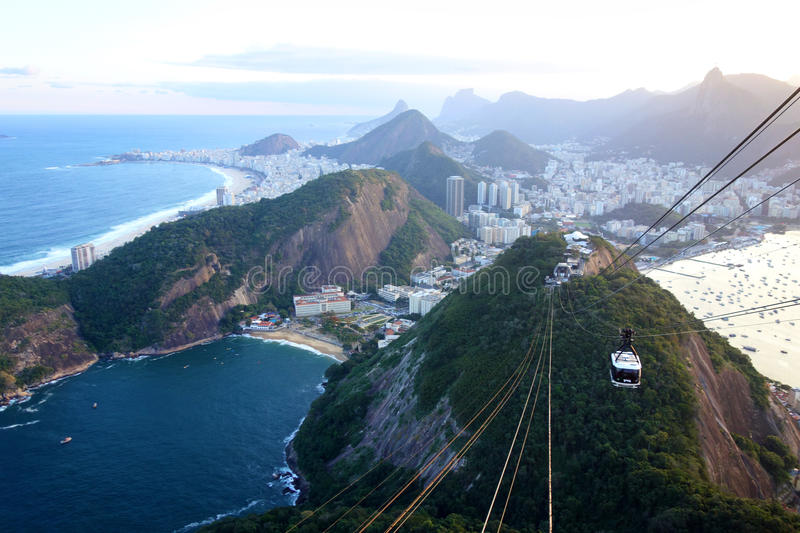 Rio de Janeiro. As seen from sugarloaf mountain royalty free stock image