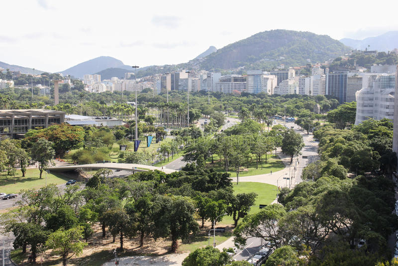 Rio de Janeiro bästa sikt royaltyfri fotografi